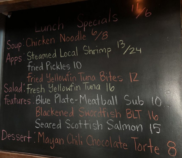 Lunch Specials 11/6