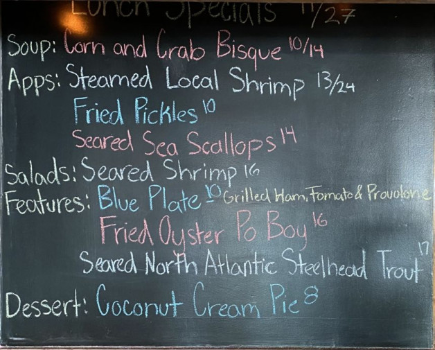 Lunch Specials 11/27