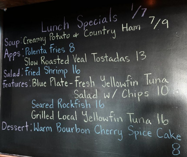 Lunch Specials 1/7