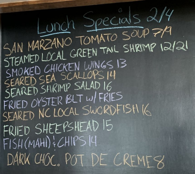 Lunch Specials 02/04