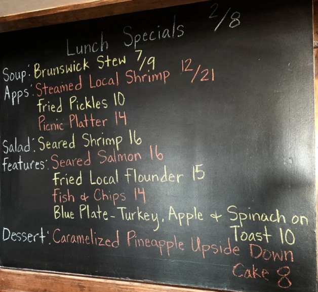 Lunch Specials 2/8