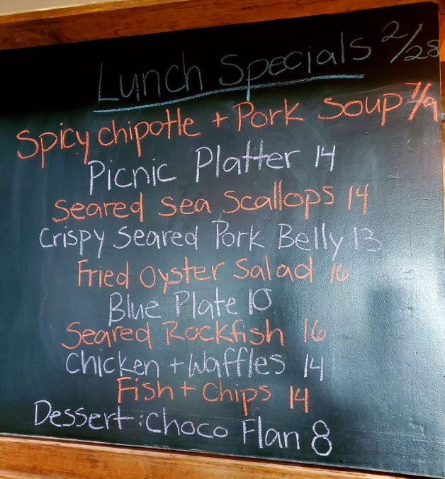 Luch Specials Sunday February 28, 2021