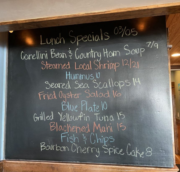 Lunch Specials March 5th