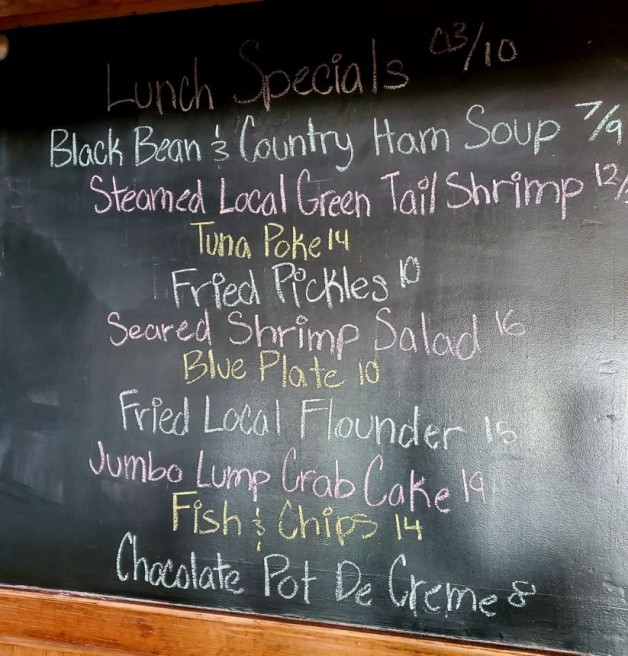 Lunch Specials Wednesday March 10, 2021