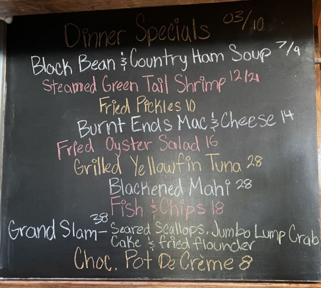 Dinner Specials March 10th