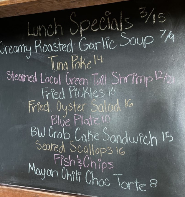 Lunch Specials 3/15/2021