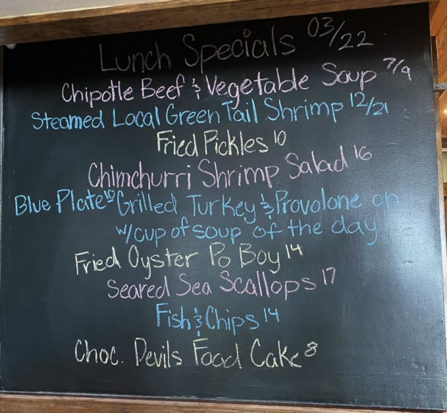 Lunch Specials March 22nd
