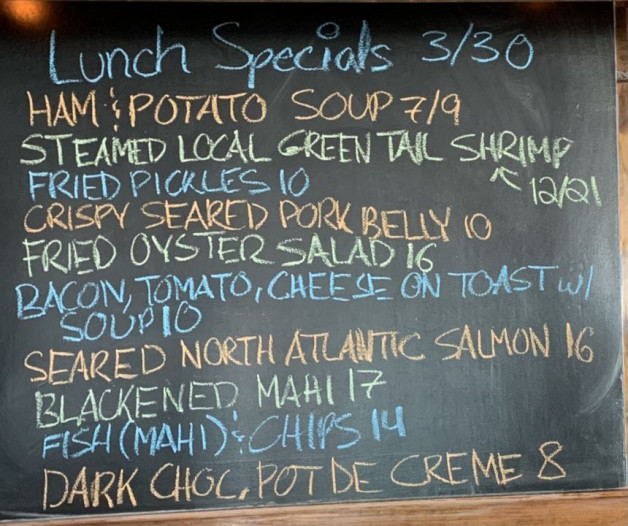 Lunch Specials 03/30