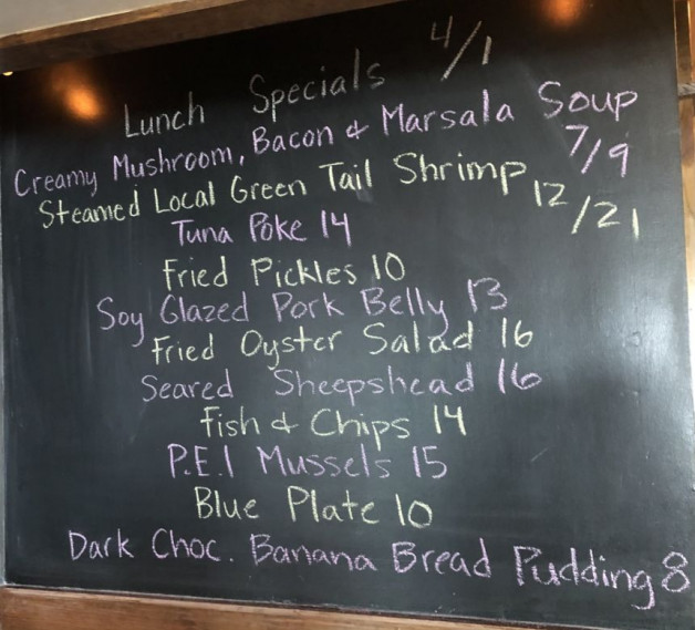 Lunch Specials 4/1