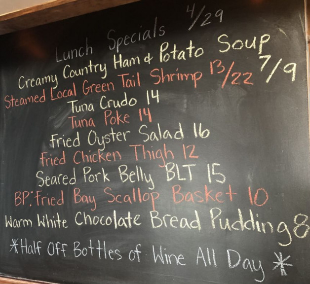 Lunch Specials 4/29