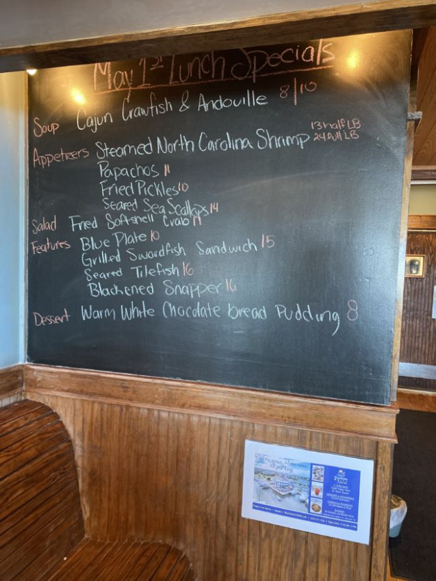 May 1st Lunch Specials
