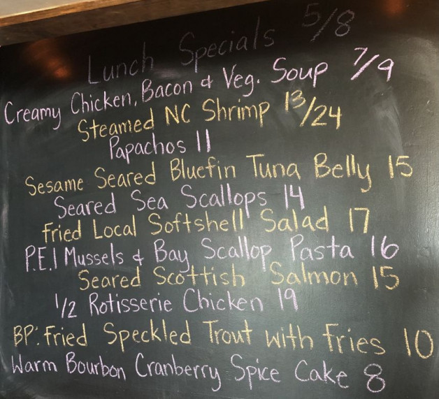 Lunch Specials 5/8