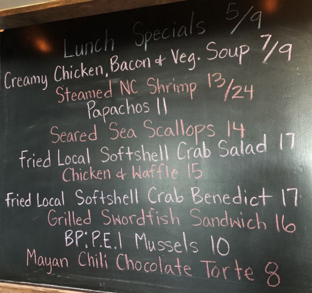Lunch Specials 5/9