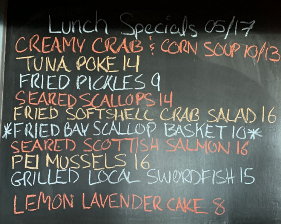 Lunch Specials 05/17