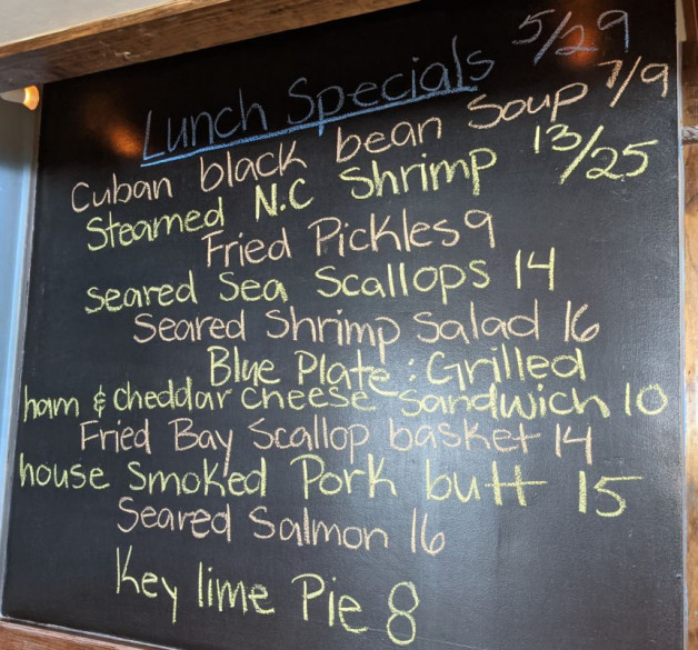 Lunch Specials 5/29