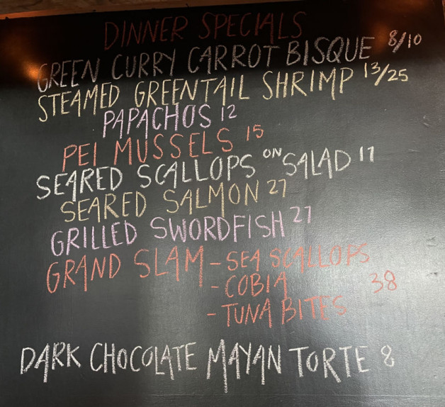 Dinner Specials for 7/10