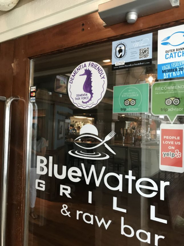 "Blue Water Grill is a ""Dementia Friendly"" Restaurant"