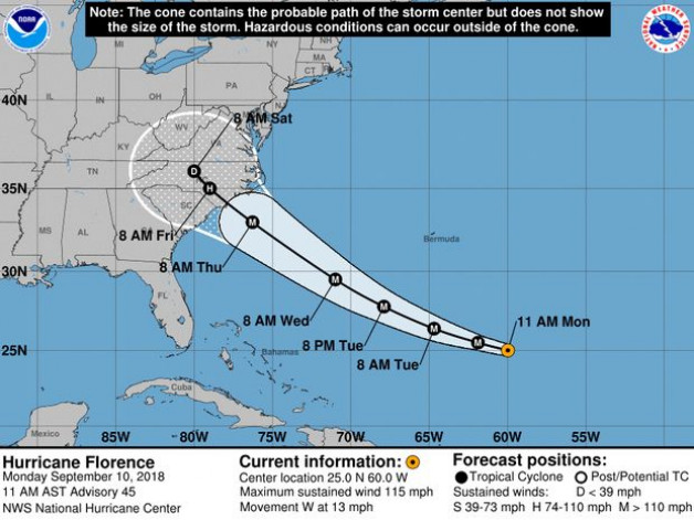 Hurricane Florence Update:  Blue Water Grill & Raw Bar will be closed Wednesday, 9/12 through duration of storm